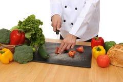 Chef Preparing Food Stock Photo
