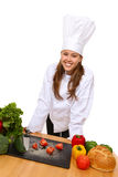 Chef Preparing Food Stock Image