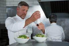 Chef preparing food Royalty Free Stock Photos