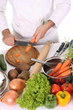 Chef preparing lunch Stock Photography