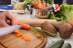 Chef preparing lunch Stock Photo