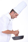 Chef preparing a meal Royalty Free Stock Photography