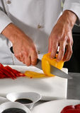Chef preparing pepper Stock Photos