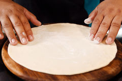 Chef Preparing pizza dough Royalty Free Stock Images
