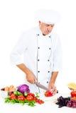 Chef preparing salad Stock Photography