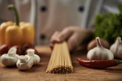 Chef preparing spaghetti Royalty Free Stock Photos