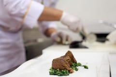 Chef preparing tenderloin Stock Photos