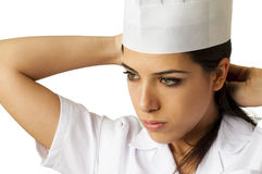 Chef Preparing for Work Stock Image