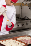 Chef prepearing canapes Stock Image