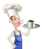 Chef with Present Stock Photo
