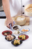 Chef presented Chinese Dim Sum Royalty Free Stock Photos