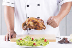 Chef presented Grilled turkey Stock Image