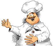 Chef Presenting. Illustration of a Chef making a presentation Royalty Free Stock Photography
