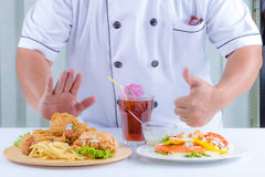 Chef Presents food Royalty Free Stock Photography