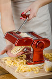 Chef production pasta - Italian pasta grinder Stock Image
