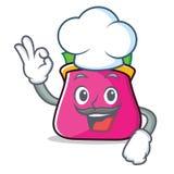 Chef purse character cartoon style. Vector illustration Stock Photo