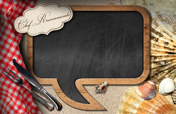 Chef Recommends - Blackboard for Seafood Menu Royalty Free Stock Photography