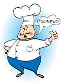 Chef recommends a dish. Vector included Royalty Free Stock Photo
