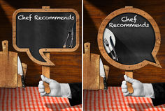 Chef Recommends - Empty Blackboard Stock Images
