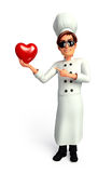 Chef with red heart shape Royalty Free Stock Photo