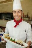 Chef restant au restaurant photos stock