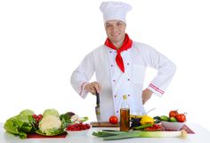 Chef at restaurant Stock Image