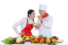 Chef at restaurant Stock Photo