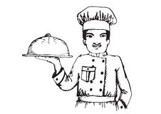 Chef  for restaurant and cafe Royalty Free Stock Photos