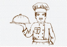 Chef  for restaurant and cafe Stock Photography