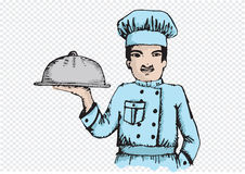 Chef for restaurant and cafe Stock Photos