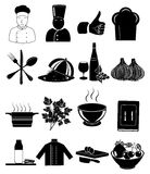 Chef restaurant icons set Stock Photo