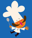 Chef. Retro style character design Stock Illustration