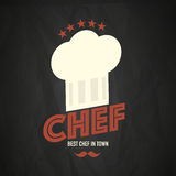 Chef retro style design. Abstract background Royalty Free Stock Photo