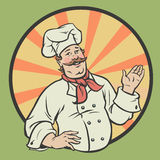 Chef in a retro style Royalty Free Stock Photo
