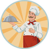 Chef in a retro style Royalty Free Stock Image