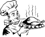 Chef With Roast Poultry Stock Image