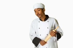 Chef with rolling pin Royalty Free Stock Image
