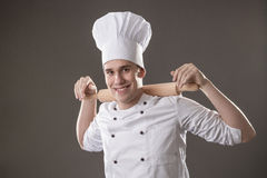 Chef with rolling pin Stock Photos