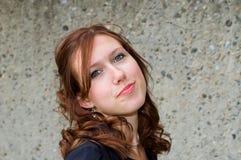 Chef rouge de sourire Photographie stock