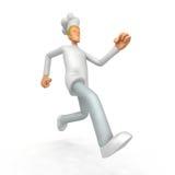 Chef runs forward Stock Photography