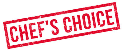 Chef`S Choice rubber stamp Royalty Free Stock Photos