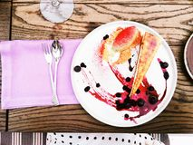 Chef`s dessert - pastry and sweet food styled concept royalty free stock images