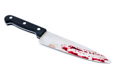 Chef's knife with Dripping blood Royalty Free Stock Photography