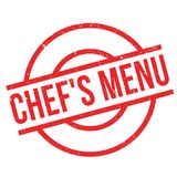 Chef`S Menu rubber stamp Stock Photos