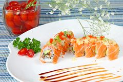 Chef's special sushi roll Stock Photography