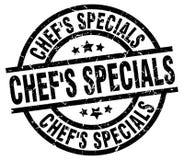 Chef`s specials round grunge  stamp. Chef`s specials round grunge black stamp Royalty Free Stock Image