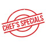 Chef`S Specials rubber stamp Royalty Free Stock Image