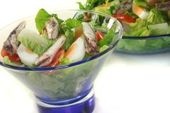 Chef salad with anchovies Stock Image