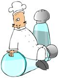 Chef On A Salt Shaker Royalty Free Stock Photography