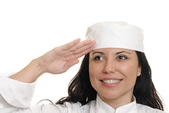 Chef Saluting royalty free stock photos